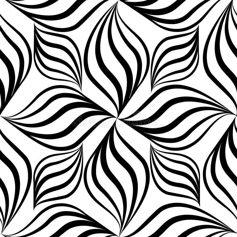 Modèle sans couture d'Abstact Ligne florale tex géométrique de remous illustration libre de droits