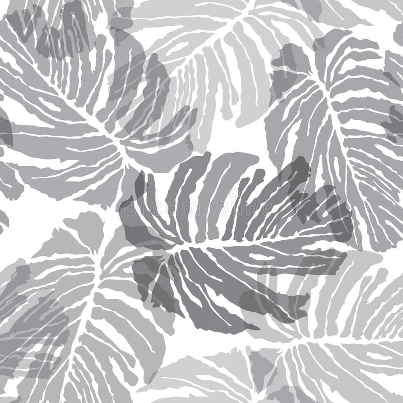 Modèle sans couture d'Abstact Textu floral de palmettes de jungle illustration stock
