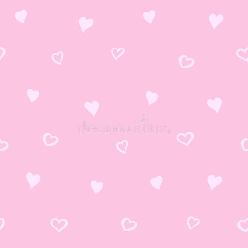 Modèle sans couture d'amour avec le coeur Backg à la mode de vecteur de valentines illustration de vecteur