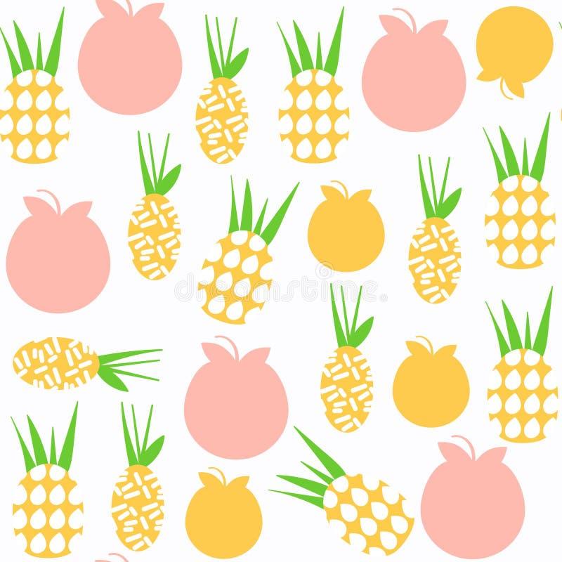 Modèle sans couture d'ananas Il est situé dans le menu d'échantillon, vect illustration libre de droits
