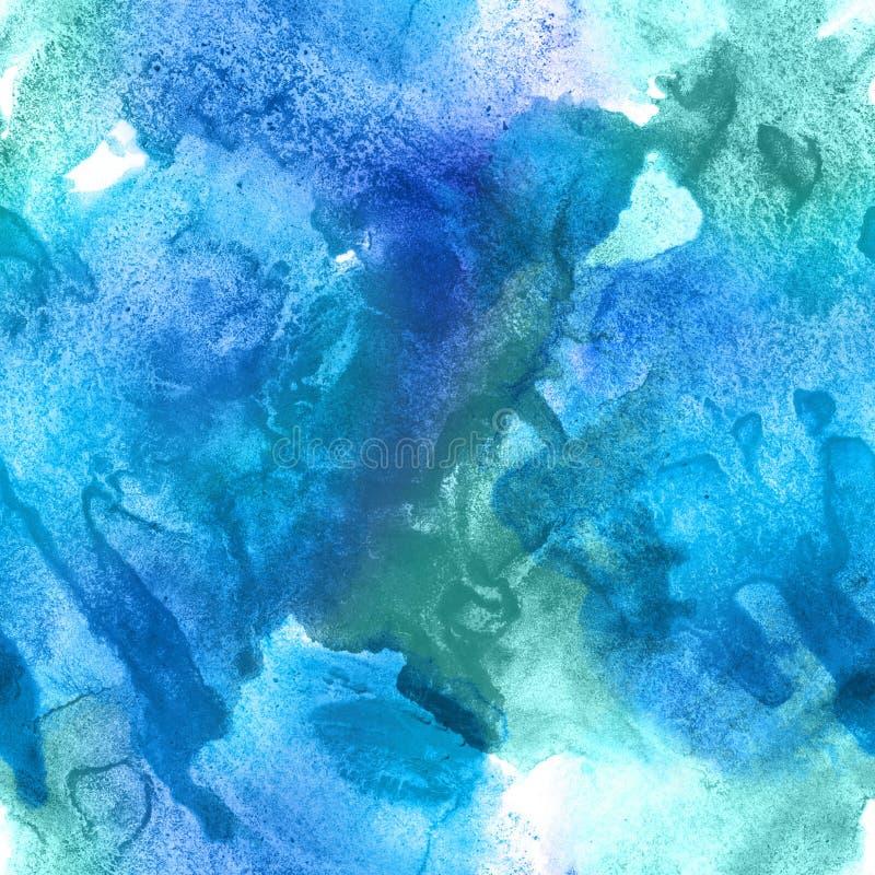 Modèle sans couture d'aquarelle abstraite illustration stock