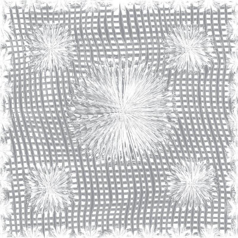 Modèle sans couture d'armure de tissu de coton dans des couleurs grises illustration stock