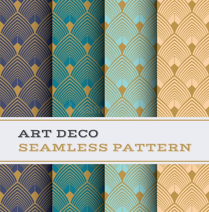 Modèle sans couture 03 d'Art Deco illustration de vecteur
