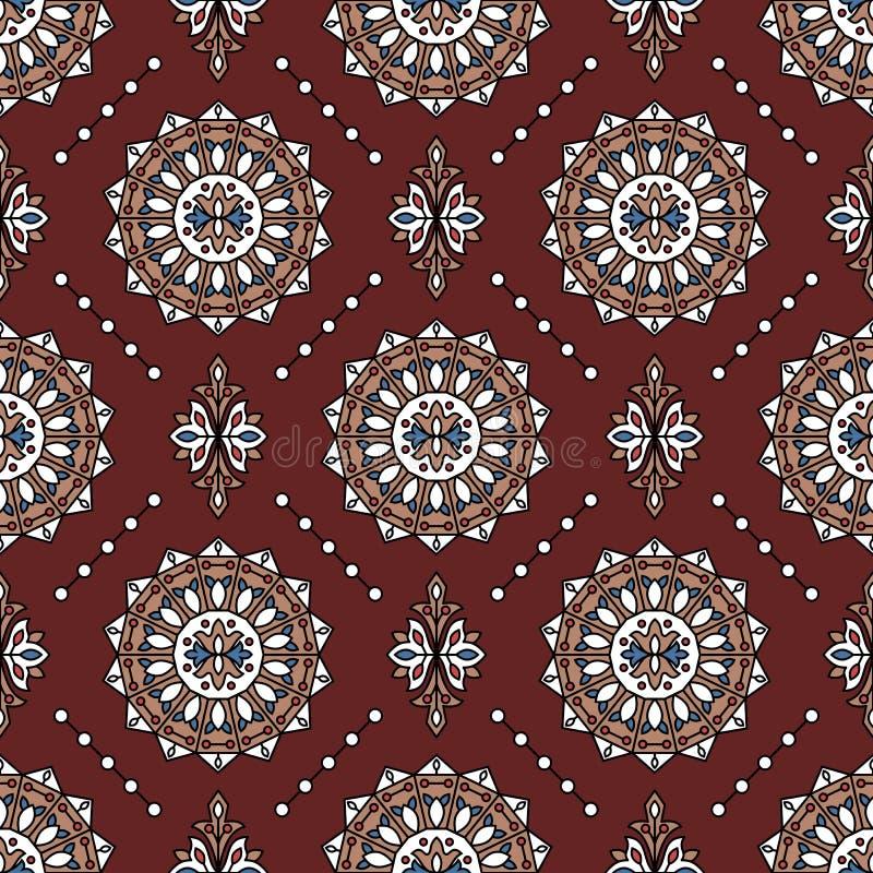 Modèle sans couture d'art géométrique oriental de style photo stock