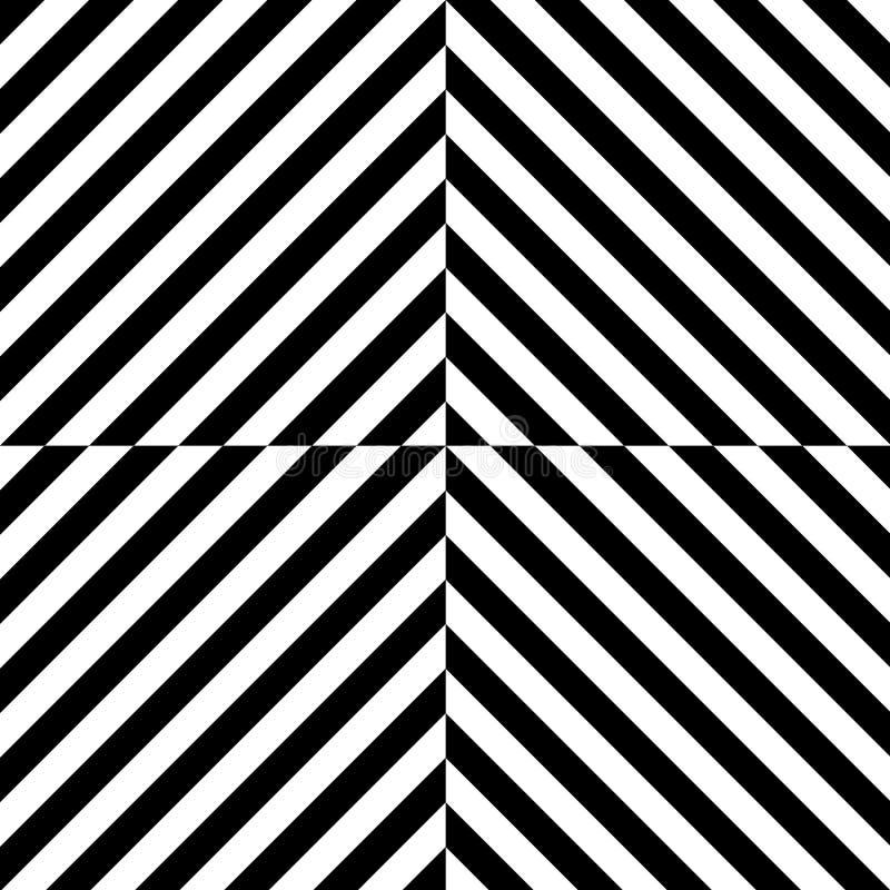 Modèle sans couture d'art op de vecteur abstrait illustration de vecteur
