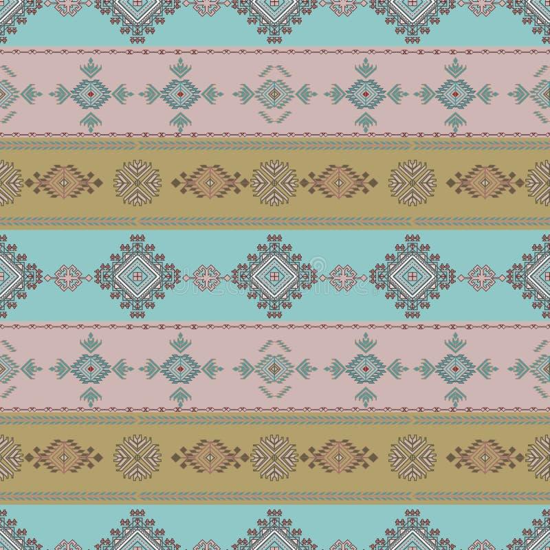 Modèle sans couture d'art tribal Copie géométrique ethnique Texture de répétition colorée aztèque de fond illustration stock