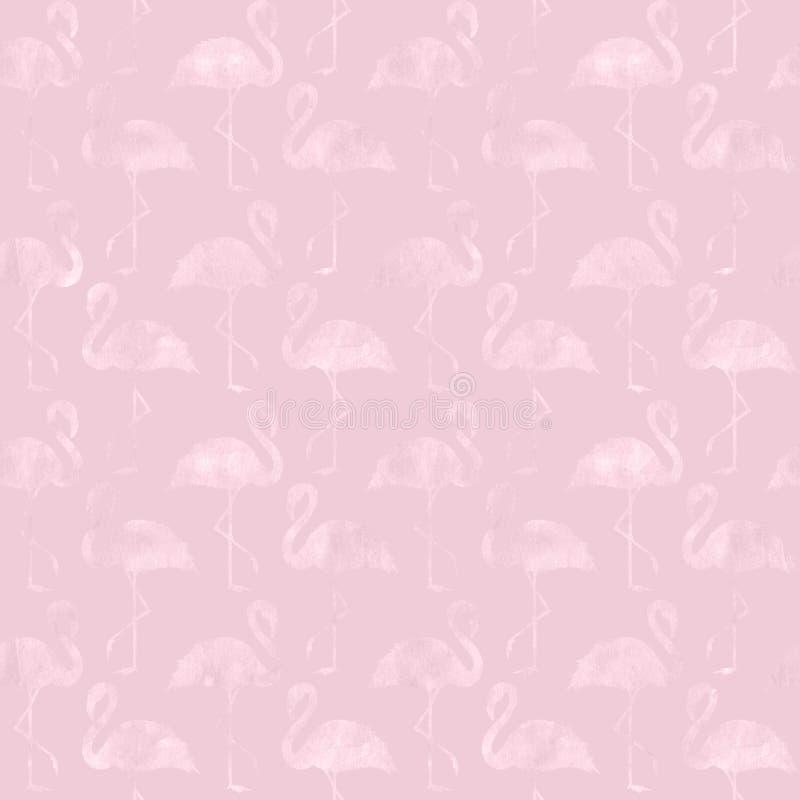 Modèle sans couture d'or de flamant rose à la mode de scintillement photos stock