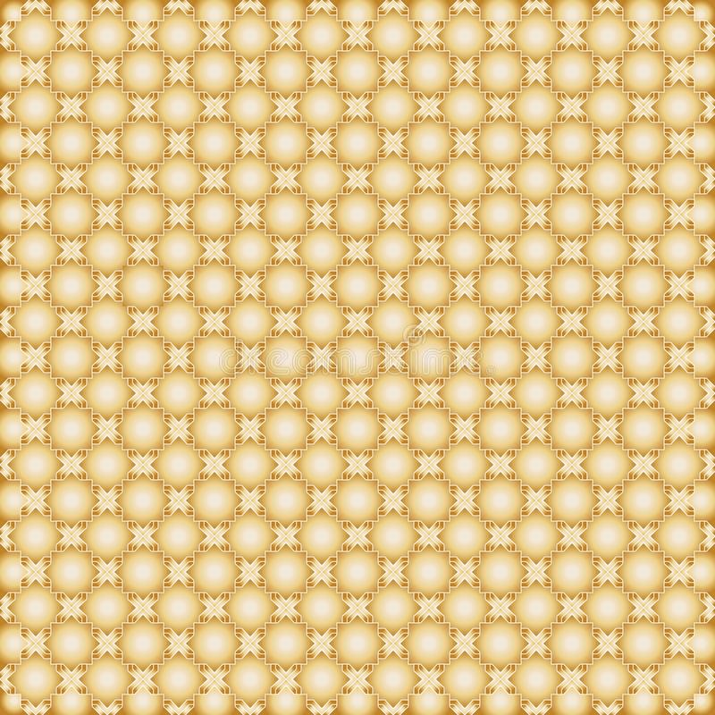 Modèle sans couture d'or de forme octogonale d'étoiles illustration de vecteur