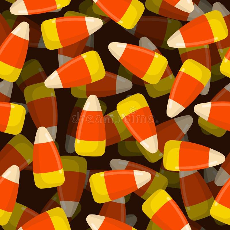 Modèle sans couture 3D de sucrerie de maïs Texture de bonbons Tradi de fond illustration libre de droits