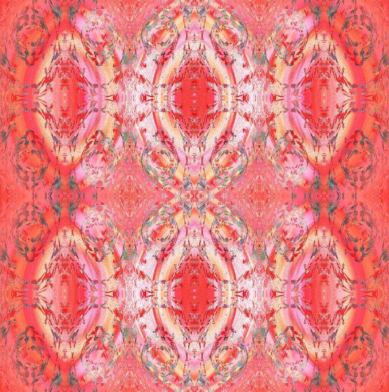 Modèle sans couture d'ellipses aux nuances rouges verticalement illustration stock