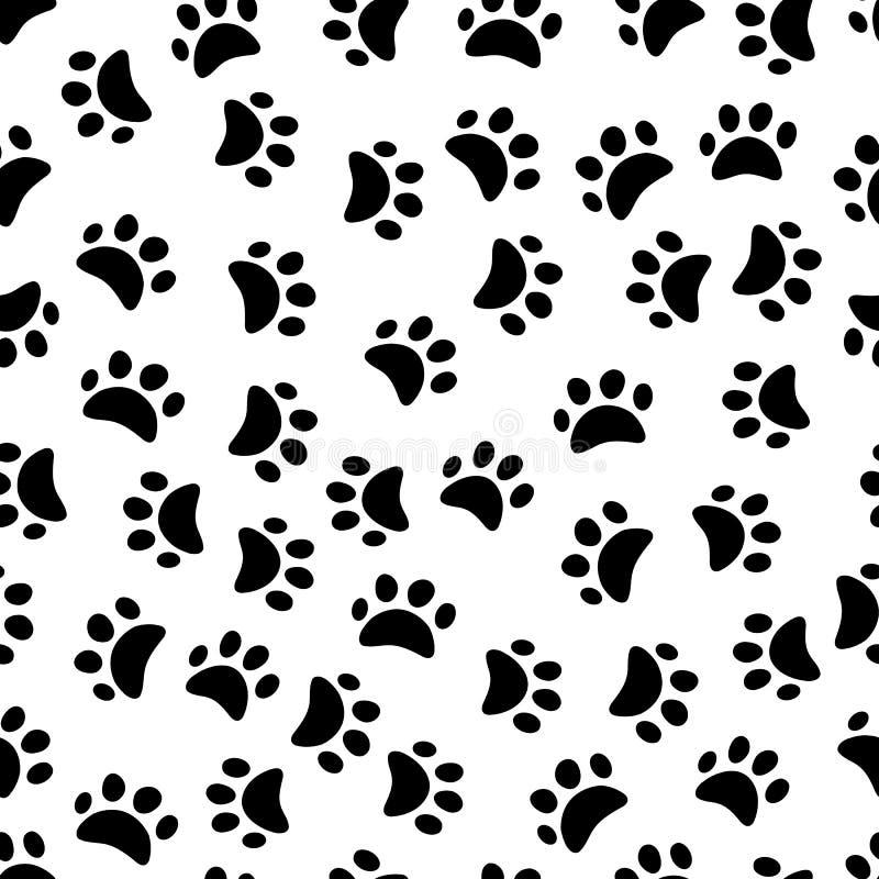 Modèle sans couture d'empreintes de pas animales illustration libre de droits