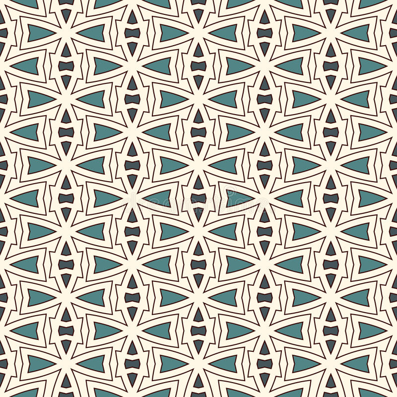Modèle sans couture d'ensemble avec l'ornement abstrait Motif ethnique Chiffres géométriques répétés papier peint Surface moderne illustration stock