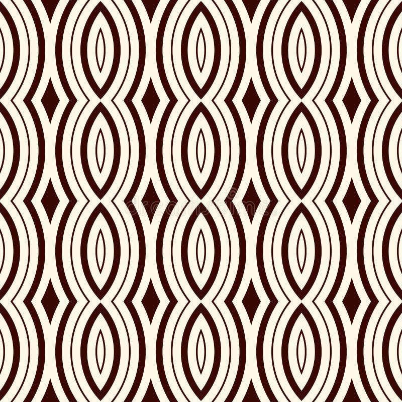 Modèle sans couture d'ensemble avec l'ornement géométrique Fond moderne d'astract de style Papier de Digital, textile illustration de vecteur