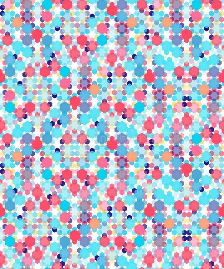 Modèle sans couture d'hexagone géométrique coloré illustration stock