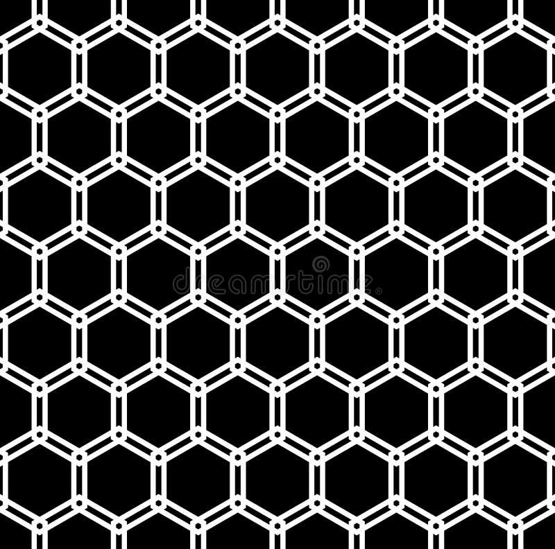 Modèle sans couture d'hexagones Texture géométrique abstraite illustration stock