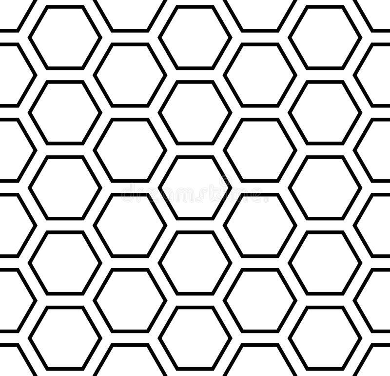 Modèle sans couture d'hexagones Texture géométrique illustration libre de droits