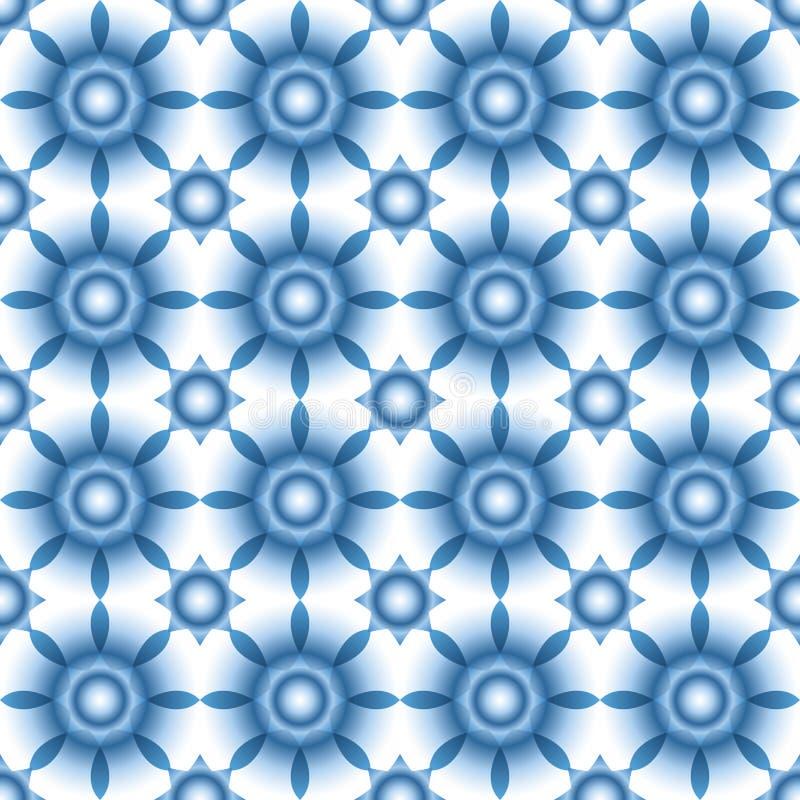 Modèle sans couture d'hiver avec des flocons de neige, des étoiles ou des fleurs abstraites aux nuances bleu-clair Texture de No? illustration libre de droits