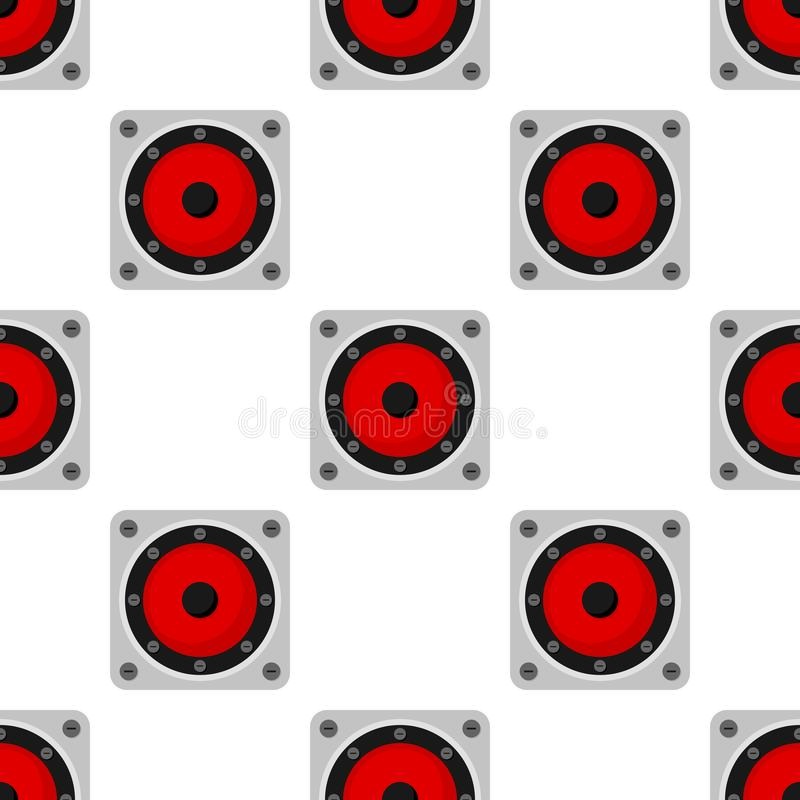 Modèle sans couture d'icône plate de haut-parleur de musique illustration libre de droits