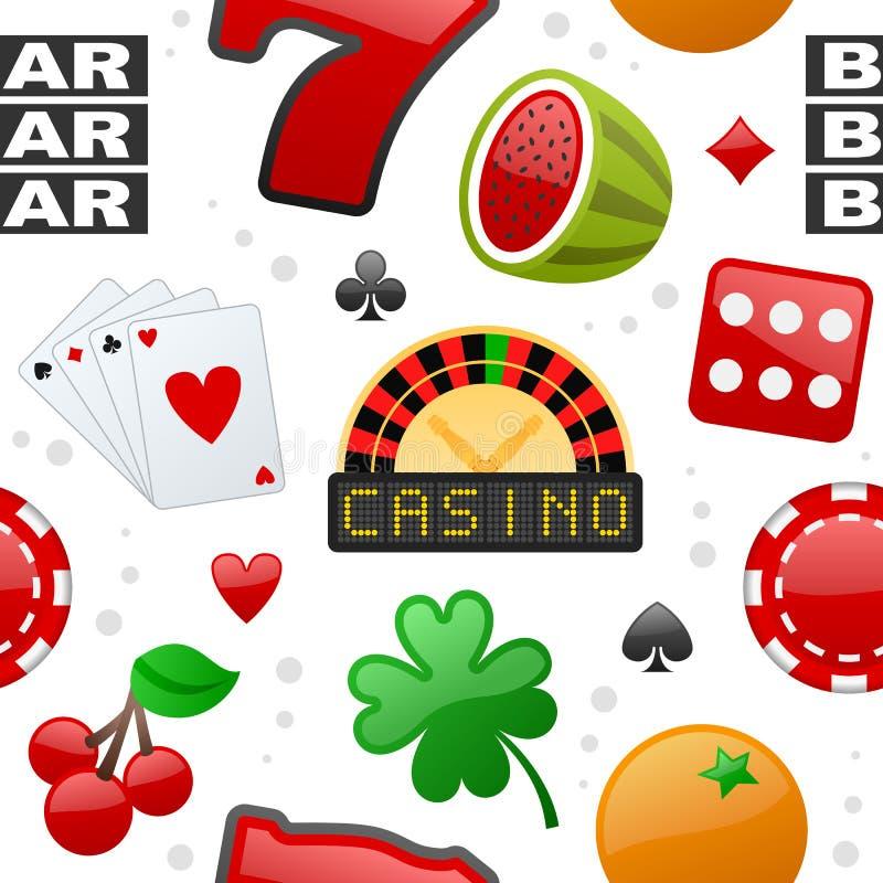 Modèle sans couture d'icônes de casino illustration libre de droits