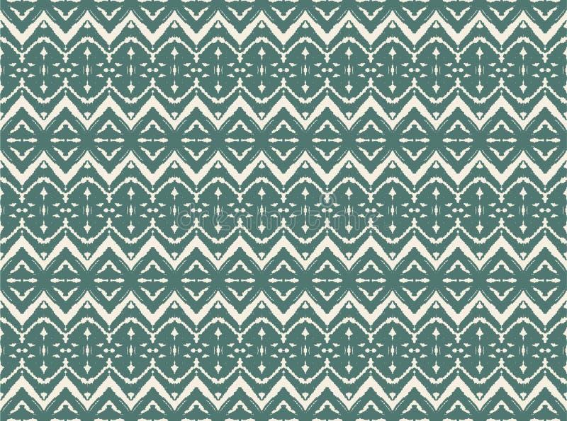 Modèle sans couture d'Ikat Copie de shibori de colorant de lien de vecteur avec les rayures et le chevron Fond japonais texturisé illustration de vecteur