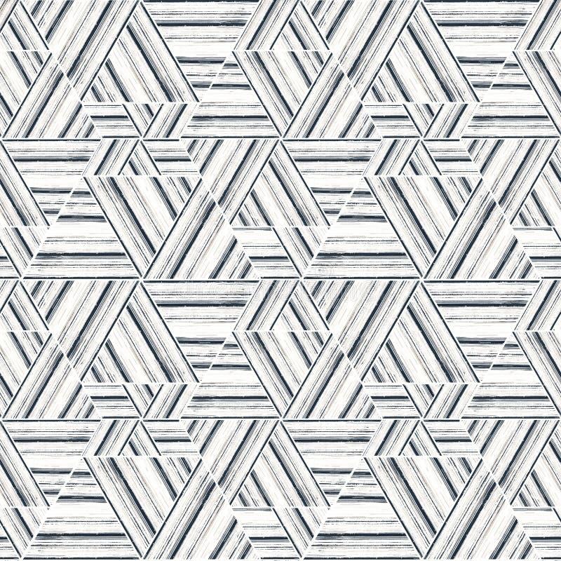 Modèle sans couture d'ikat Fond abstrait pour la conception de textile, papier peint, textures extérieures illustration libre de droits