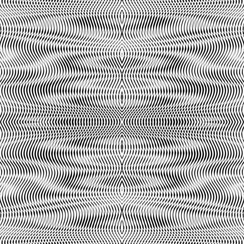 Modèle sans couture d'illusion optique avec l'effet de moire illustration stock