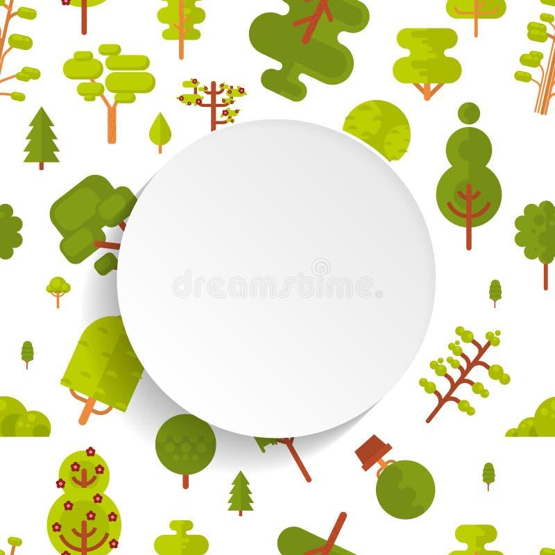 Download Modèle Sans Couture D'illustration Avec Les Arbres Et Les Buissons Verts Sur Le Fond Blanc Dans Le Style Plat Illustration de Vecteur - Illustration du plat, horizontal: 76080977