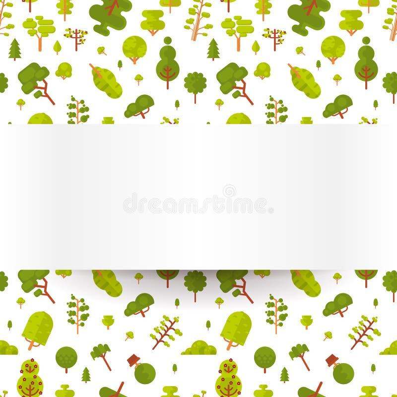 Download Modèle Sans Couture D'illustration Avec Les Arbres Et Les Buissons Verts Sur Un Fond Blanc Dans Le Style Plat Illustration de Vecteur - Illustration du petit, rectangulaire: 76080978