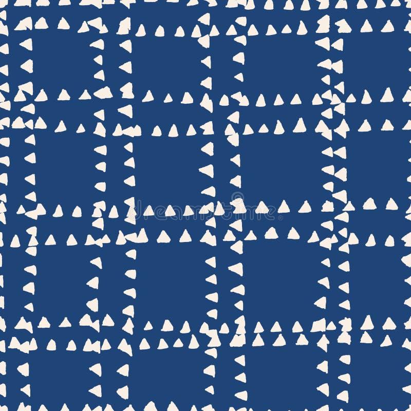 Modèle sans couture d'indigo de colorant de lien illustration de vecteur