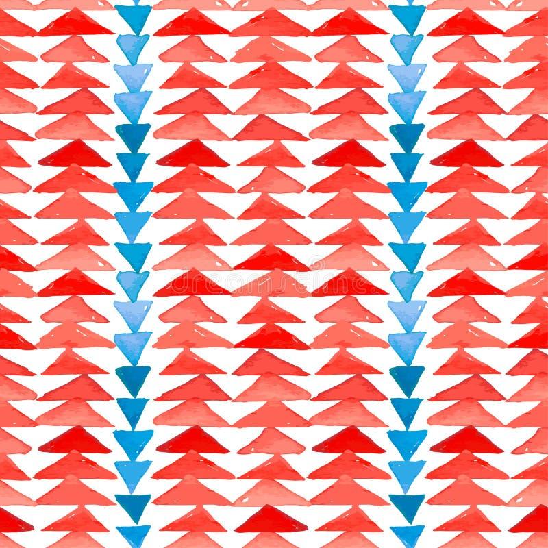 Modèle sans couture d'inspiration aztèque de textile de Navajo Americ indigène illustration stock