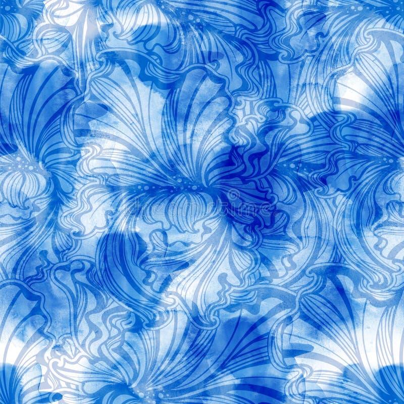 Modèle sans couture d'iris illustration stock