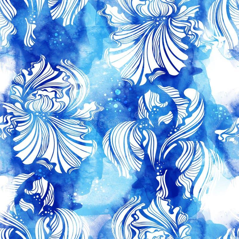Modèle sans couture d'iris illustration libre de droits