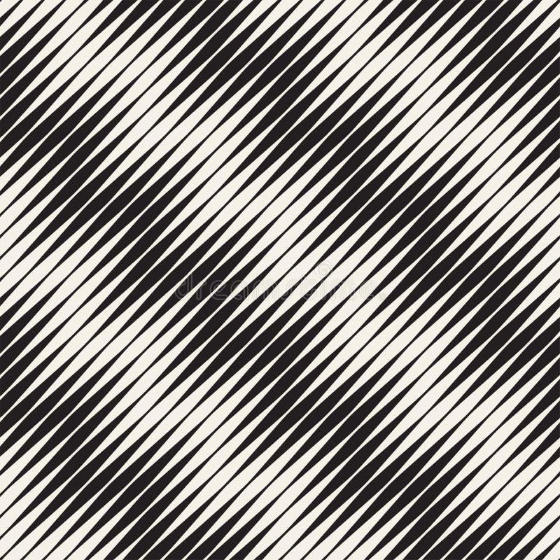 Modèle sans couture d'ondulation Répétition de la texture de vecteur Fond graphique onduleux Rayures simples illustration stock