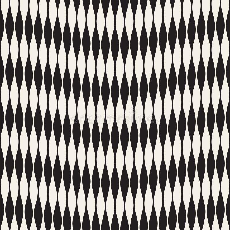 Modèle sans couture d'ondulation Répétition de la texture de vecteur Fond graphique onduleux Rayures simples illustration libre de droits