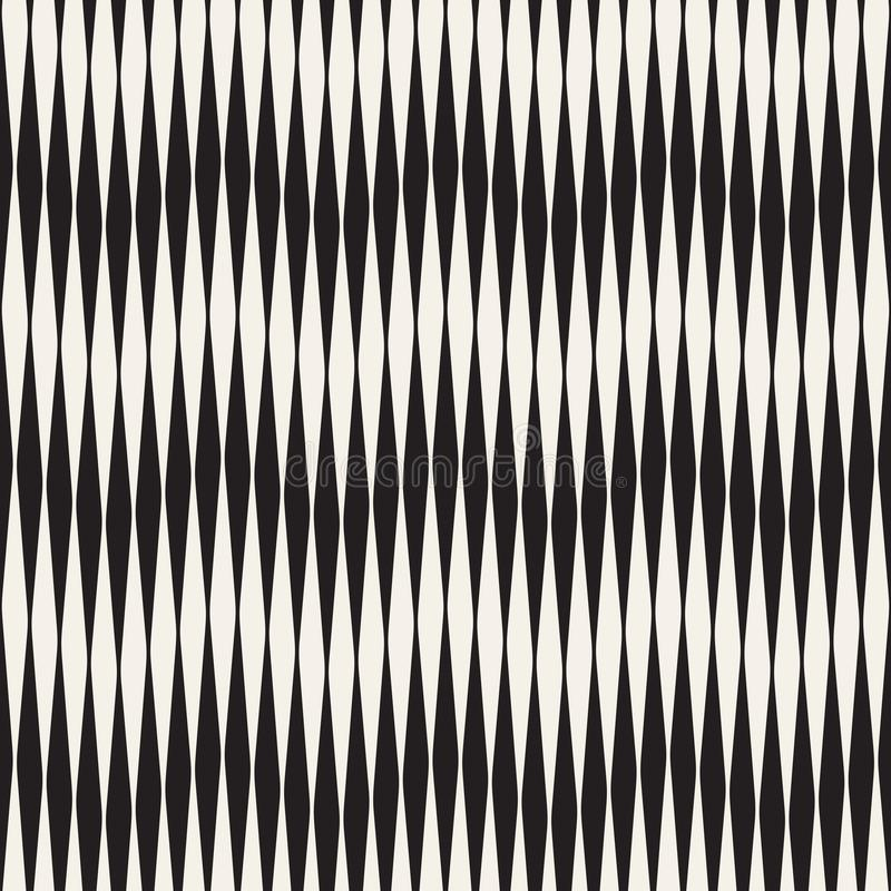 Modèle sans couture d'ondulation Répétition de la texture de vecteur Fond graphique onduleux Rayures simples illustration de vecteur