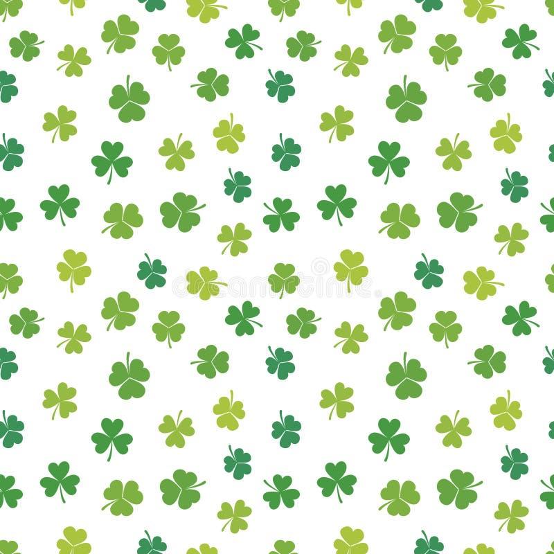 Modèle sans couture d'oxalidex petite oseille de vecteur de jour de St Patricks illustration de vecteur