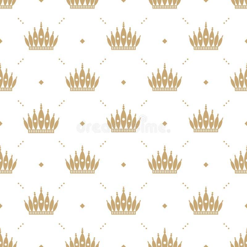 mod le sans couture dans le r tro style avec une couronne. Black Bedroom Furniture Sets. Home Design Ideas