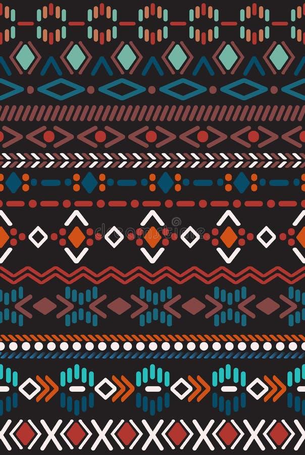 Modèle sans couture dans le style aztèque illustration libre de droits