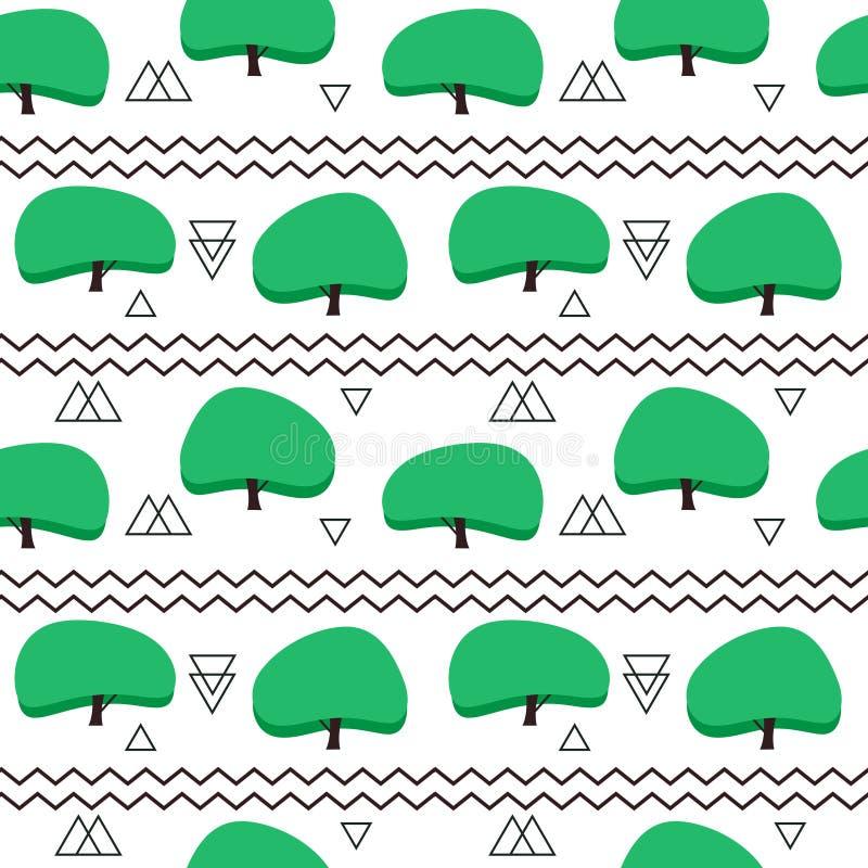 Modèle sans couture dans le style scandinave moderne fond de la géométrie de la nature du nord illustration libre de droits