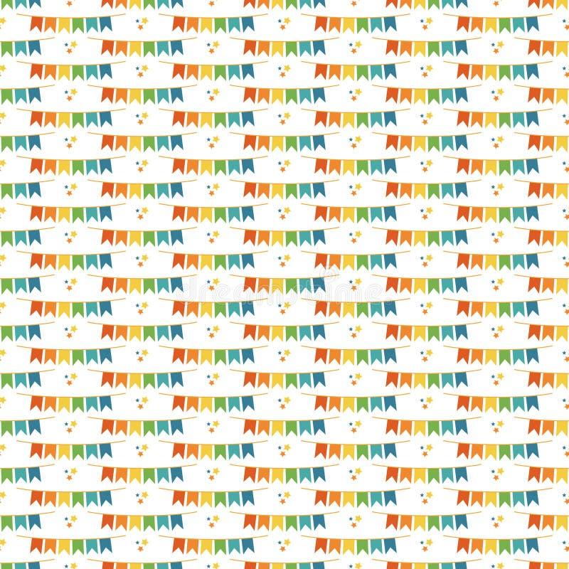Modèle sans couture de bannières d'étamine illustration libre de droits