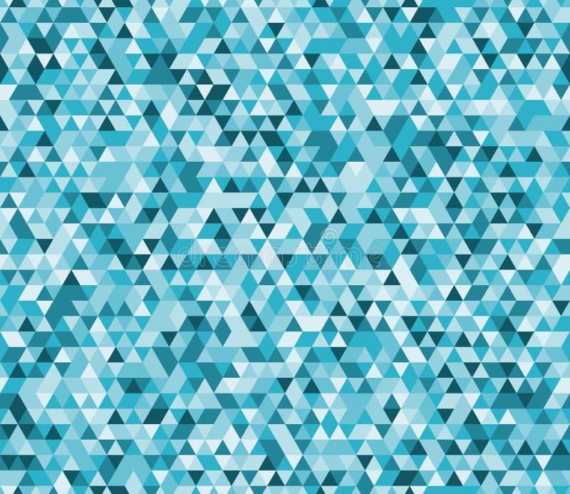 Modèle sans couture de bas poly fond géométrique abstrait de vecteur Hublot de verre coloré 4 illustration libre de droits
