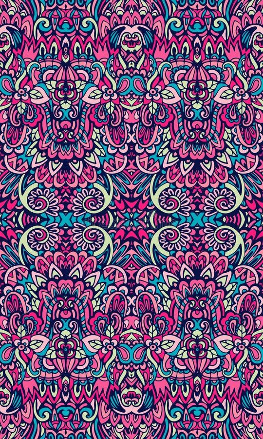 Modèle sans couture de beau de vecteur de cru motif floral de damassé illustration stock