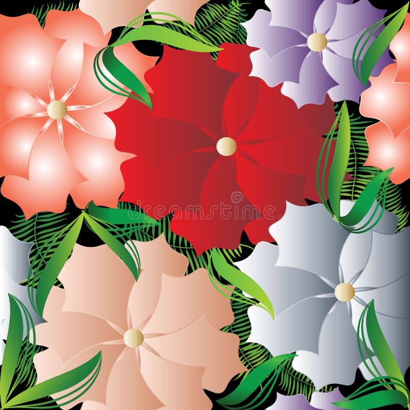 Modèle sans couture de beau vecteur floral coloré Abstra lumineux illustration stock