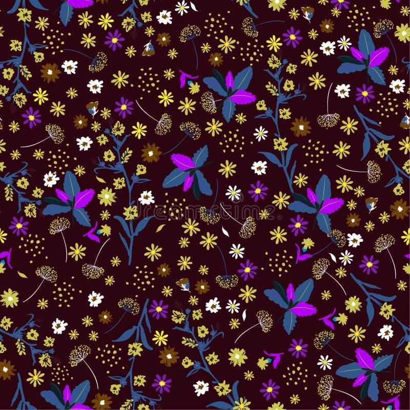 Modèle sans couture de belle de vintage fleur de liberté, gentl élégant illustration libre de droits