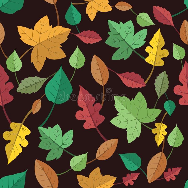 Modèle sans couture de belles feuilles d'automne colorées illustration libre de droits