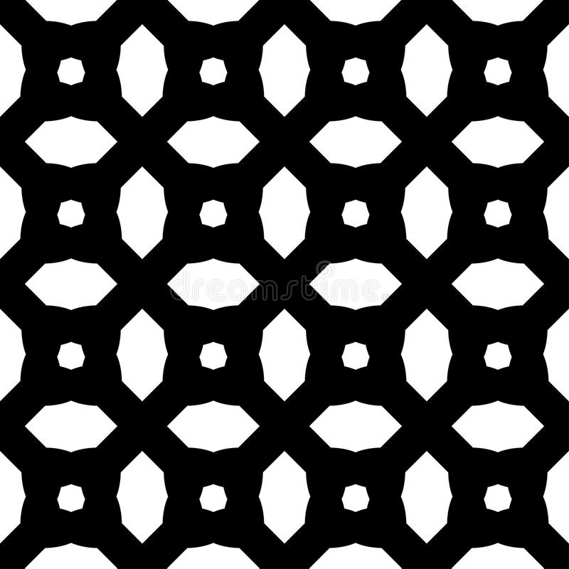 Modèle sans couture de blanc de noir d'art abstrait illustration stock