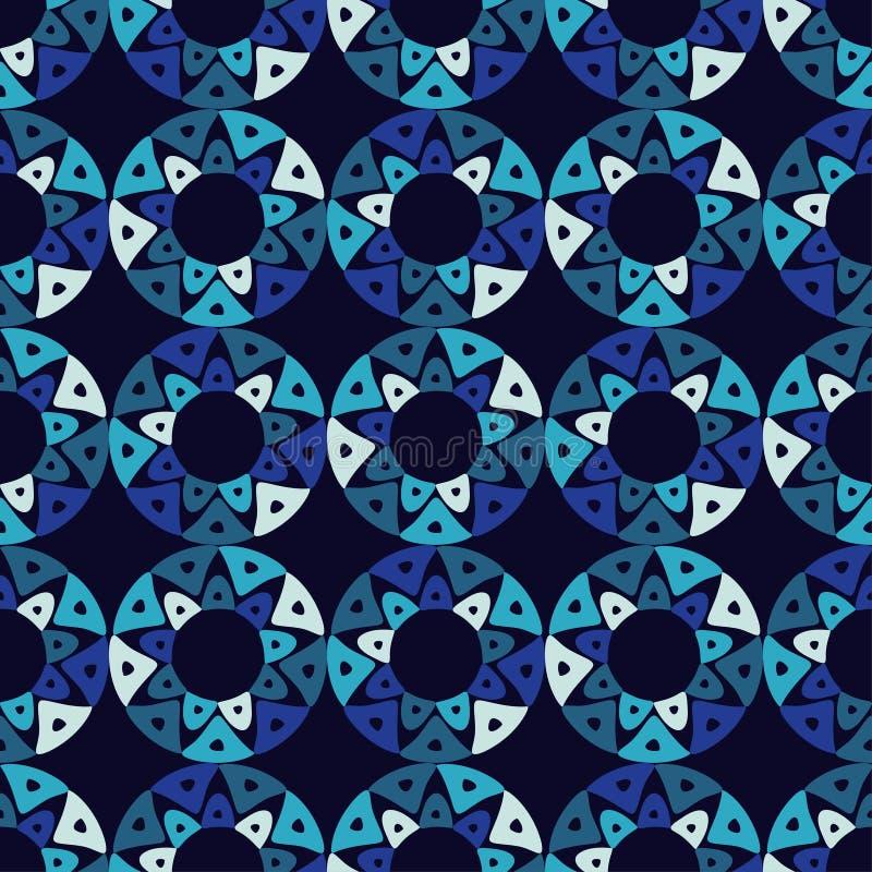 Modèle sans couture de boho ethnique Élément ethnique de conception de Sun Texture de patchwork tissage Ornement traditionnel Con illustration libre de droits