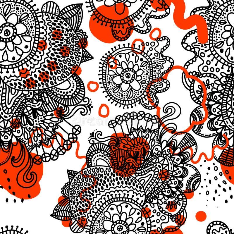 Modèle sans couture de boho ethnique illustration libre de droits