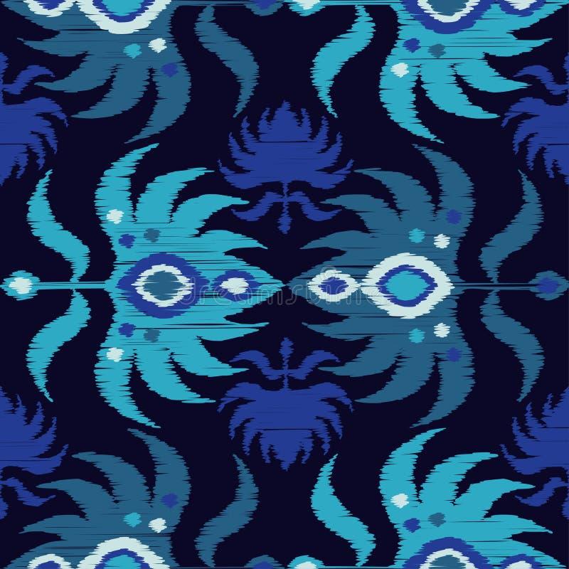 Modèle sans couture de boho ethnique Rétro motif Rapport de textile illustration stock