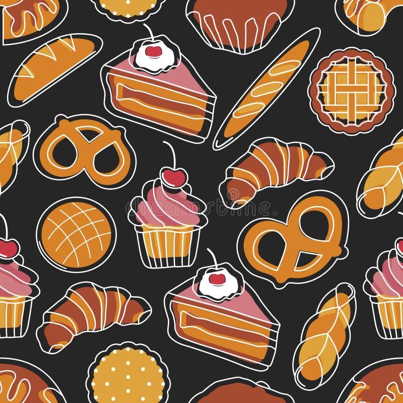 Modèle sans couture de boulangerie images libres de droits